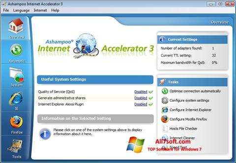Ekraanipilt Ashampoo Internet Accelerator Windows 7