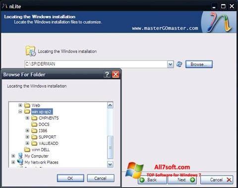 Ekraanipilt nLite Windows 7