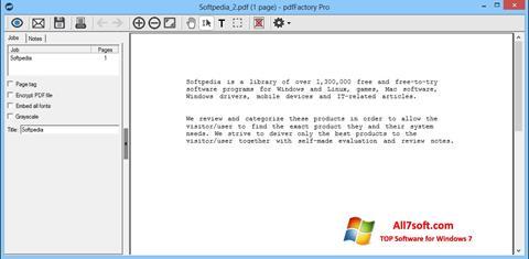 Ekraanipilt pdfFactory Pro Windows 7