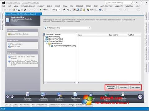 Ekraanipilt InstallShield Windows 7