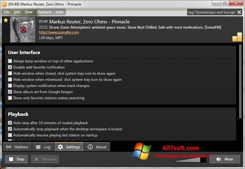 Ekraanipilt Screamer Radio Windows 7