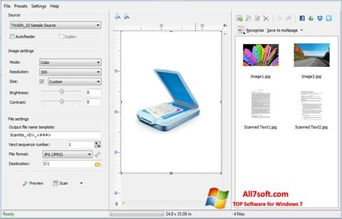 Ekraanipilt WinScan2PDF Windows 7