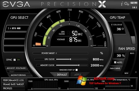 Ekraanipilt EVGA Precision X Windows 7