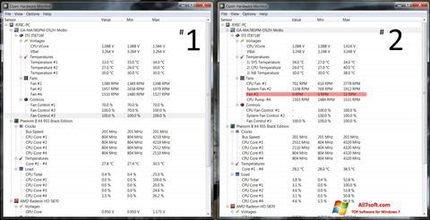Ekraanipilt Open Hardware Monitor Windows 7