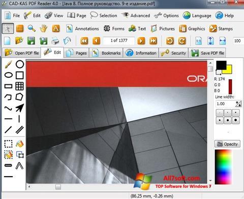 Ekraanipilt PDF Reader Windows 7