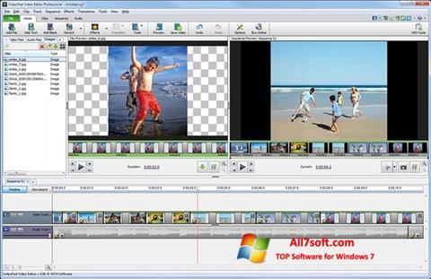 Ekraanipilt VideoPad Video Editor Windows 7