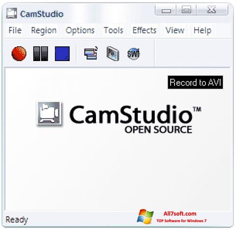 Ekraanipilt CamStudio Windows 7