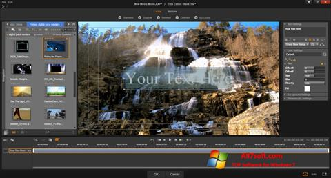 Ekraanipilt Pinnacle Studio Windows 7