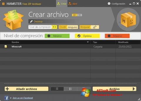 Ekraanipilt Hamster Free ZIP Archiver Windows 7