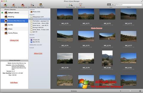 Ekraanipilt iPhoto Windows 7