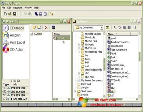 Ekraanipilt DeepBurner Windows 7