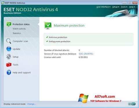 Ekraanipilt ESET NOD32 Windows 7