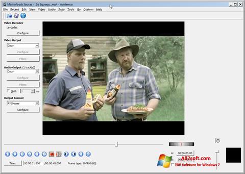 Ekraanipilt Avidemux Windows 7
