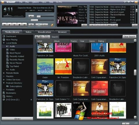 Ekraanipilt Winamp Windows 7