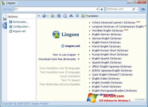Ekraanipilt Lingoes Windows 7