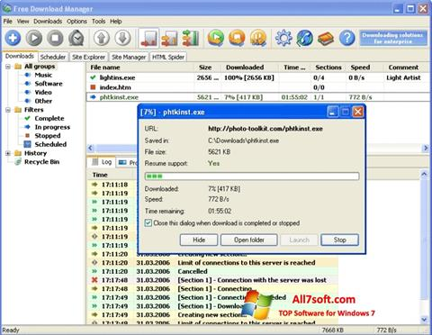 Ekraanipilt Download Master Windows 7