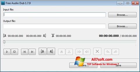 Ekraanipilt Free Audio Dub Windows 7
