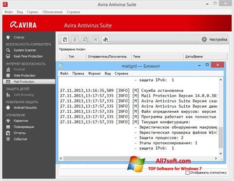 Ekraanipilt Avira Windows 7
