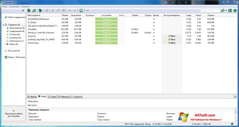 Ekraanipilt uTorrent Windows 7