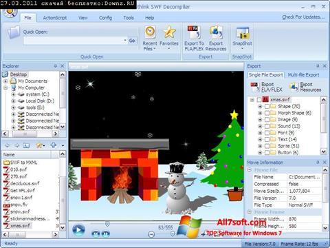 Ekraanipilt Sothink SWF Decompiler Windows 7