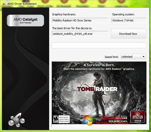 Ekraanipilt AMD Driver Autodetect Windows 7