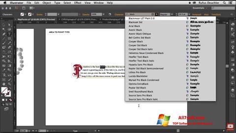 Ekraanipilt Adobe Illustrator Windows 7