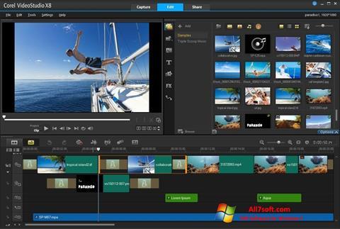 Ekraanipilt Corel VideoStudio Windows 7