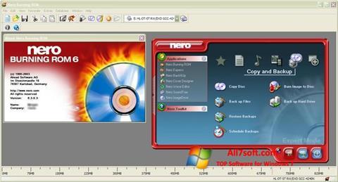 Ekraanipilt Nero Burning ROM Windows 7