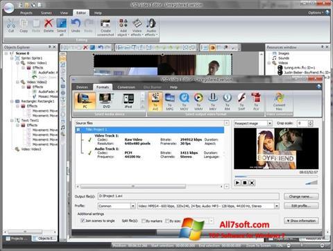 Ekraanipilt Free Video Editor Windows 7