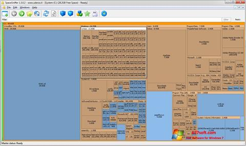 Ekraanipilt SpaceSniffer Windows 7