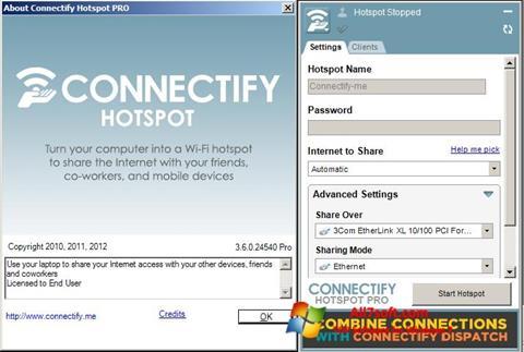 Ekraanipilt Connectify Windows 7