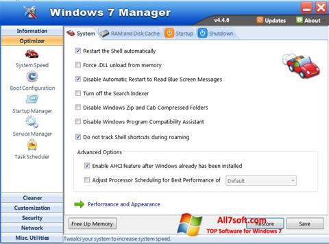 Ekraanipilt Windows 7 Manager Windows 7