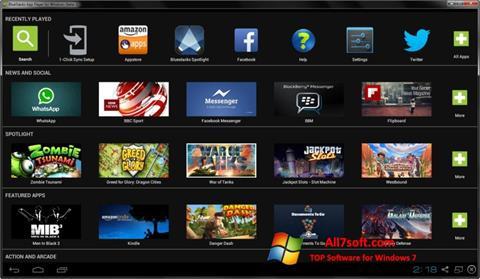 Ekraanipilt BlueStacks Windows 7