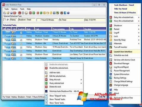 Ekraanipilt Auto ShutDown Windows 7