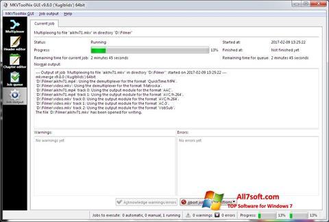 Ekraanipilt MKVToolnix Windows 7