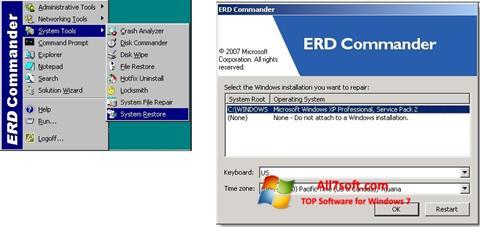 Ekraanipilt ERD Commander Windows 7