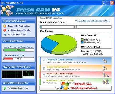 Ekraanipilt Fresh RAM Windows 7