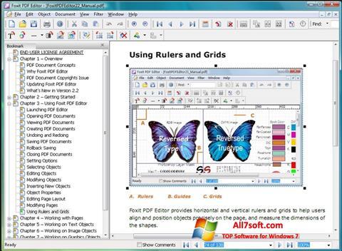 Ekraanipilt Foxit PDF Editor Windows 7