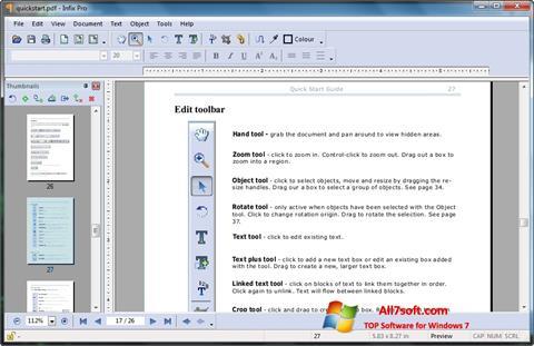 Ekraanipilt Infix PDF Editor Windows 7