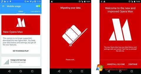 Ekraanipilt Opera Max Windows 7