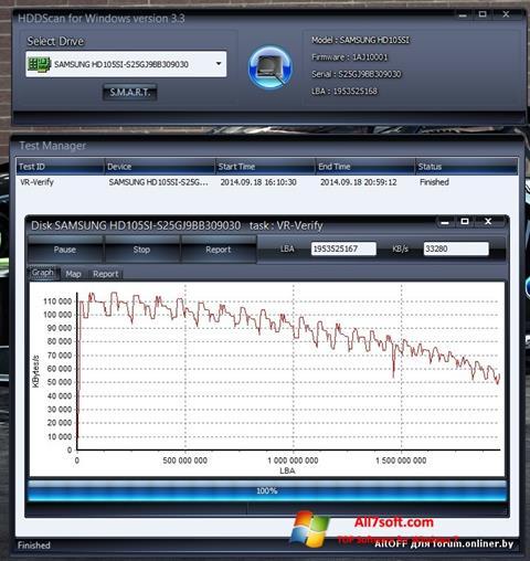 Ekraanipilt HDDScan Windows 7