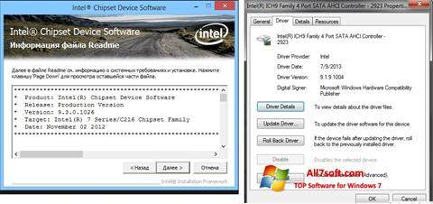 Ekraanipilt Intel Chipset Windows 7