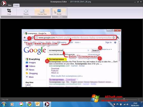 Ekraanipilt Screenpresso Windows 7