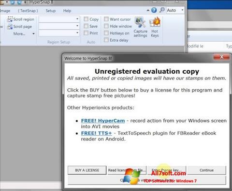 Ekraanipilt HyperSnap Windows 7