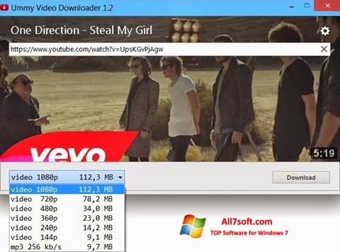 Ekraanipilt Ummy Video Downloader Windows 7