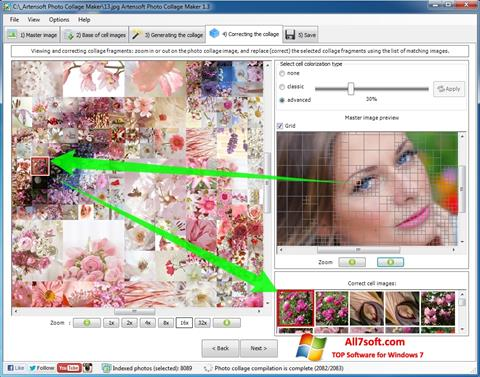 Ekraanipilt Photo Collage Windows 7