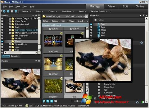 Ekraanipilt ACDSee Photo Manager Windows 7