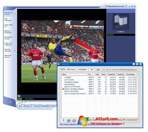 Ekraanipilt SopCast Windows 7