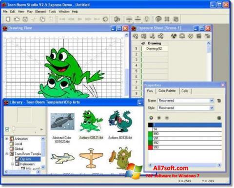 Ekraanipilt Toon Boom Studio Windows 7