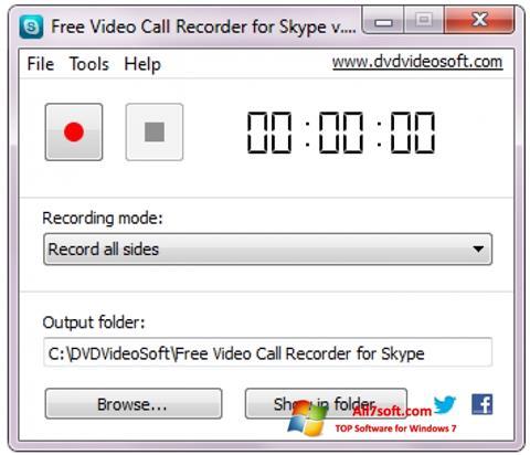 Ekraanipilt Free Video Call Recorder for Skype Windows 7